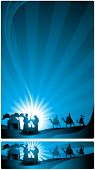 picture of nativity scene  - The three wise men and the child Jesus - JPG