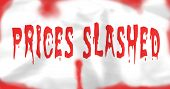 Prices Slashed Blood Sales Banner