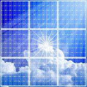 cielo de panel & azul de energía solar. Mapa de bits copiar mi ID 52829062 del vector