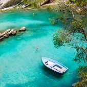 Calvia Cala Fornells turquoise mediterranean in Majorca at balearic islands of Spain