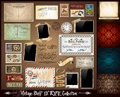 Vintage Stuff Extreme Collection - 3 seamless wallpaper, a parchment, photoframes, adhesive straps,