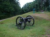 American Civil War Cannon Artillery On Display At The Vicksburg National Military Park poster