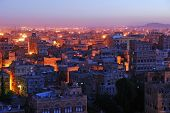 Sanaa. Vista de la mañana en la ciudad vieja