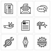 Set Of 9 Simple Editable Icons Such As Binary Code, Smartwatch, Settings, Email Box, Development, Ch poster