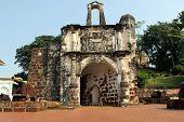 Malaysia - Malacca, Portuguese fortress' Porta de Santiago