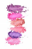 Smear Of Crushed Purple And Pink Eyeshadow As Sample Of Cosmetic Product poster
