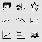 Set Of 9 Simple Editable Icons Such As Analytics Settings, Analytic, Data Analytics Descending, Data poster
