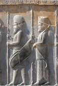 Bas-Relief Of Soldiers At Persepolis, Iran