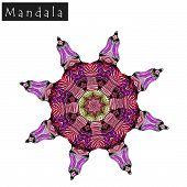 Geometrical Flower Mandala Sign poster