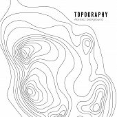 Topographic Map Contour Background Pattern. Contour Landscape Map Concept.  Abstract Geographic Worl poster
