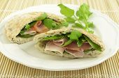 Ham And Watercress Pita