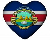 Heart With Flag Of Costa Rica