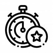 Bonus Stopwatch Concept Icon Vector. Outline Bonus Stopwatch Concept Sign. Isolated Contour Symbol I poster