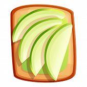 Avocado Toast Icon. Cartoon Of Avocado Toast Vector Icon For Web Design Isolated On White Background poster
