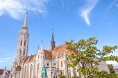 Amazing Matthias Church In Budapest, Hungary. Roman Catholic Church In The Gothic Style. Located In  poster