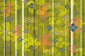 Yellow And Green Floral Wallpaper
