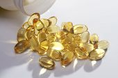 Yellow Pills Vitamin E Soft Gels