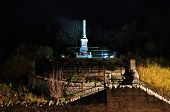monument at night