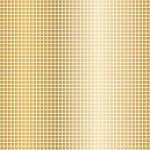 Golden Mosaic. Background Image Of Golden Mosaic Squares On White. Vector Mosaic Illustration. poster