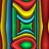 Series - Game Of Shapes. Abstract Modern Art Background. Arrangement Of Vibrant Volume Abstract Shap poster