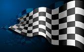 illustratie van de formule een race vlag zwaaien