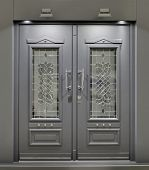 Massive Metallic Fireproof Front Door