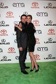 LOS ANGELES - OCT 15:  Matthew Rhys, Emily VanCamp arriving at the 2011 Environmental Media Awards a
