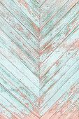 Old Wooden Texture Plank Cracked Blue Fence In Zigzag Color. A Turquoise Wall Of Planks With A Chris poster
