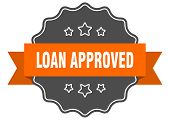 Loan Approved Isolated Seal. Loan Approved Orange Label. Loan Approved poster