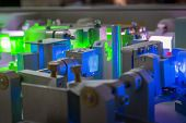 Complicated Ultraviolet Laser System In Operation With  Focus On Crystal poster