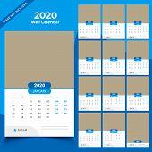 Calendar 2020 Templates In Vecto Design Illustration 13 poster