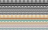 Greek Border Pattern Design Elements