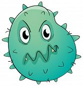 Illustration of a germ bug on white