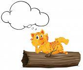 Illustration of a thinking tiger