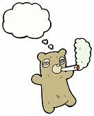 cartoon teddy bear smoking marijuana