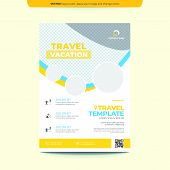 Travel Flyer Template Layout Design. Business Flyer, Brochure, Catalog, Magazine. Creative Modern Br poster