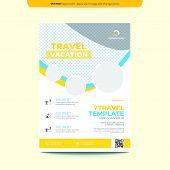 Travel Flyer Template Layout Design. Business Flyer, Brochure, Catalog, Magazine. Creative Modern Br poster