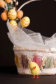 Cesta y pollo de Pascua