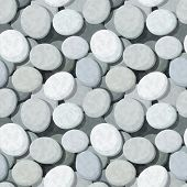 Seamless background with stones. Vector eps-10.