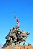 stock photo of iwo  - Iwo Jima Memorial statue near Washington DC - JPG