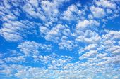 Blue Sky With Spectacular Cloudscape
