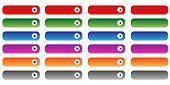 Blank web buttons set