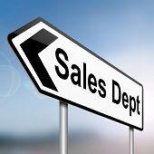 Sales Dept-Konzept.
