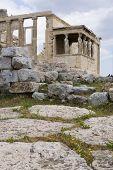 Athens Landmark Caryatids Of Erechteion poster