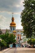 Bell Tower At Kiev Pechersk Lavra Monastery In Kiev, Ukraine