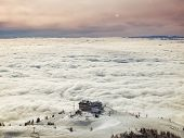 Skiing Above Fog