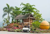 Colorful Flowers And Traditional Guesthouses In Chiang Mai,thiland