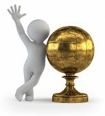 3D Small People - Volleyball Trophy Cup