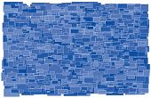 Background Made Of Various Size And Shade Blue Rectangles