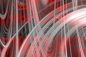 Red And Grey Swirls Background